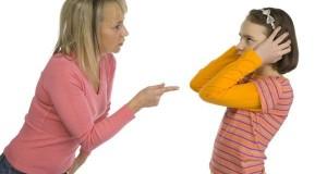 Mother disciplines daughter