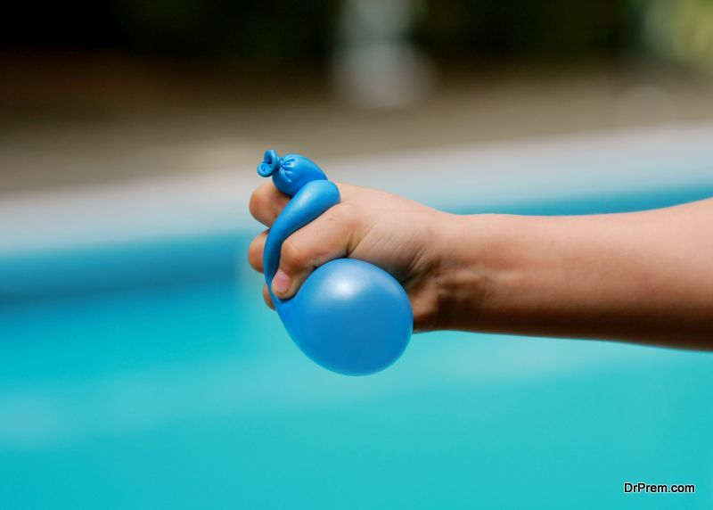 Water balloon in hand