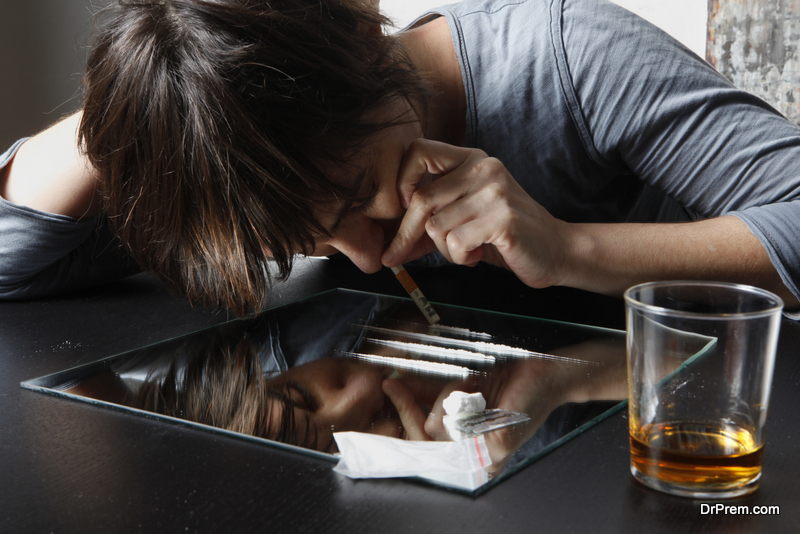 using alcohol and drugs